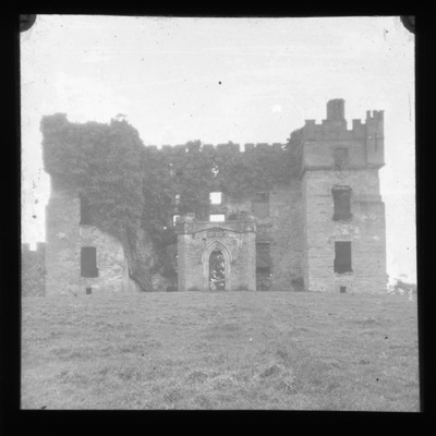 Lantern slide of fortified house in Raphoe, Co. Donegal