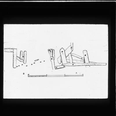 Illustration of Excavation site at Bog of Allen, Co. Meath