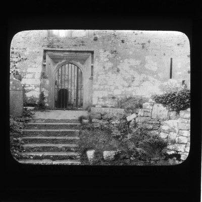 Quin Franciscan Friary - west door of church, Co. Clare