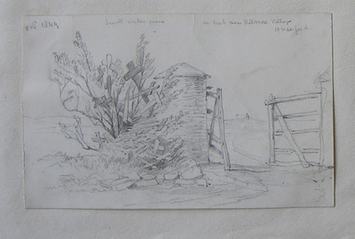 small wooden crosses, on road near Kilmore Village, Co. Wexford; Oct 1849