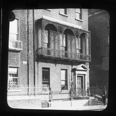 Ironwork veranda, 9 Cavendish Row, Dublin City, Co. Dublin, Ireland
