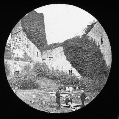 Lantern slide of priory