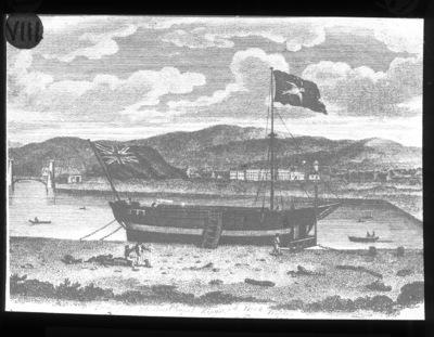 Engraving of 'floating Chapel' Ringsend Dublin.
