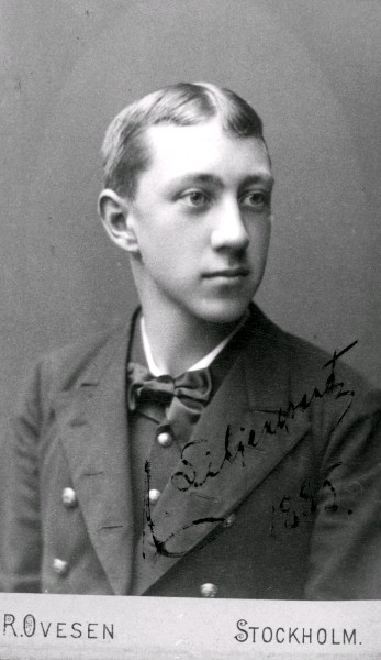 Foto på ung man, 1885, (Liljeqvist?)
