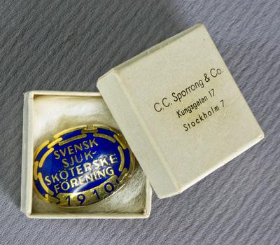 Brosch, Svensk Sjuksköterskeförening 1910