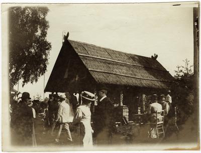 Marknadsstånd vid marknaden på Schedewij år 1909