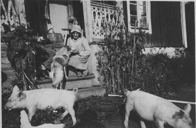 Lisa Hall på Björktorp 1932