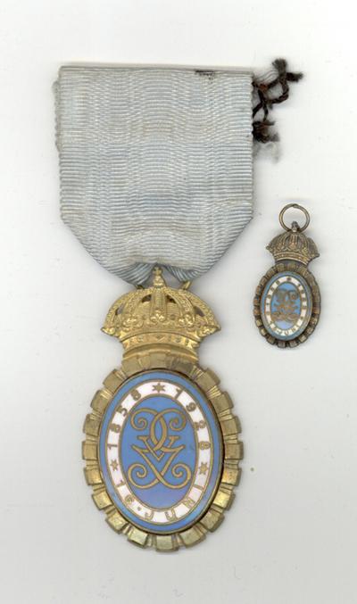 Medalj, emaljerat förtjänsttecken, Gustav V 1928