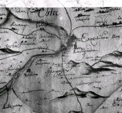 Karta över Eskilstunatrakten, 1680-tal