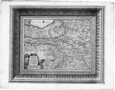 Topografische kaart Hertogdom Gelre en Gulik Schaal [ca. 1:850.000] 6 Lieues d'Allemagne de 15 au Degré = 5,1 cm 8 Lieuses de France de 20 au Degré = 5,1 cm Volgens C. Koeman in 'Atlantes Neerlandici' Aa 8 [1714] Nouvel Atlas, très exact et fort commode 'Kaarten van Gelderland en de Kwartieren', J.J.Vredenberg - Alink Blz. 51 no 54a