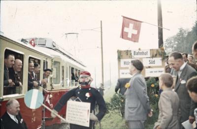 Elektrifizierungsfest der Waldenburgerbahn, beim Bahnhof Hölstein Süd