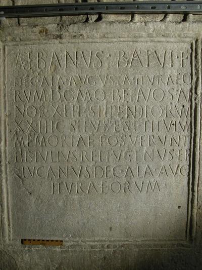 epitaph of Albanus decurio
