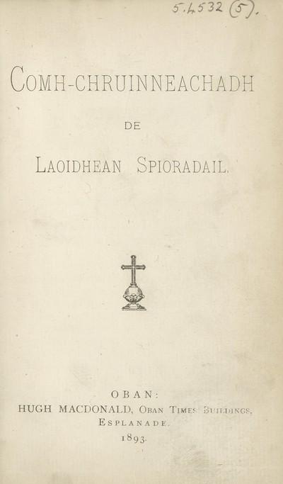 Comh-chruinneachadh de laoidhean spioradail