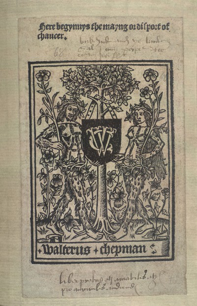 Here begynnys the may[i]ng or disport of Chaucer