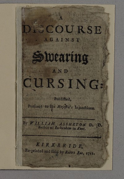 Discourse against swearing and cursing
