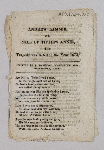 Andrew Lammie, or, Mill of Tiftie's Annie