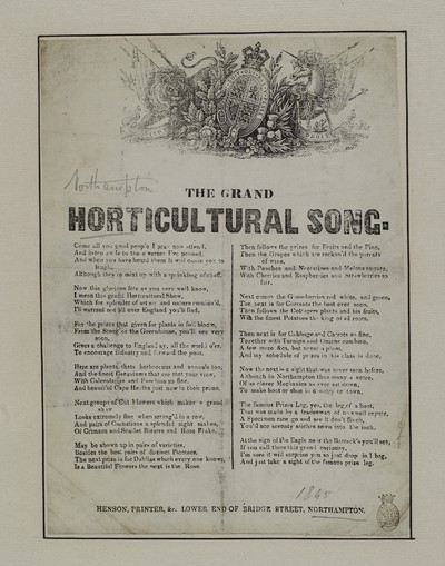 Grand horticultural song