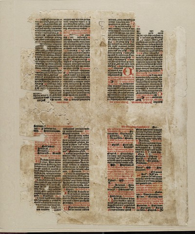 Leaves and fragments used in the binding of a volume