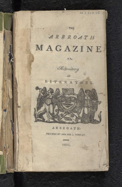 1508-1800; Arbroath magazine, or, Repository of literature; Volume 1, number 1 (October 1799)