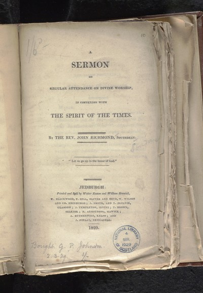 Sermon on regular attendance on divine worship, in connexion with the spirit of the times