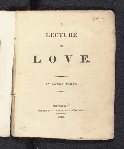 Lecture on love