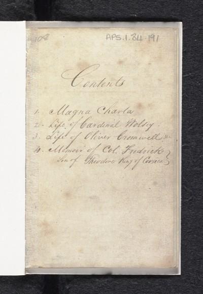 Magna Charta, as granted by King John, June 15, 1215