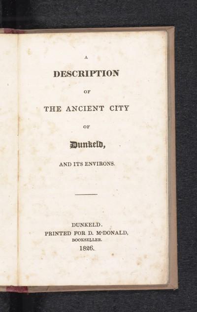Description of the ancient city of Dunkeld