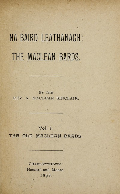 Old Maclean bards
