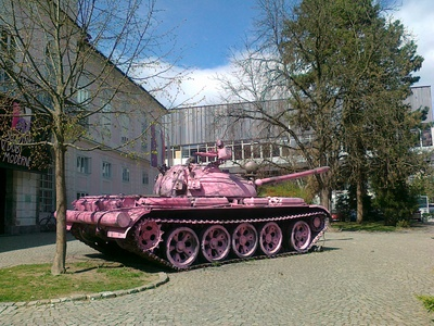 National Museum of Contemporary History 2012 pink tank
