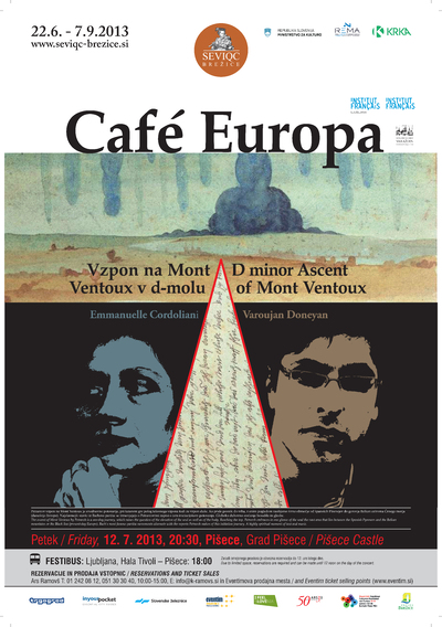 Seviqc Brežice Festival 2013 Cafe Europa poster