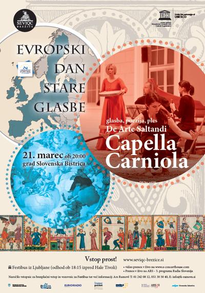 Seviqc Brežice Festival 2013 Capella Carniola poster