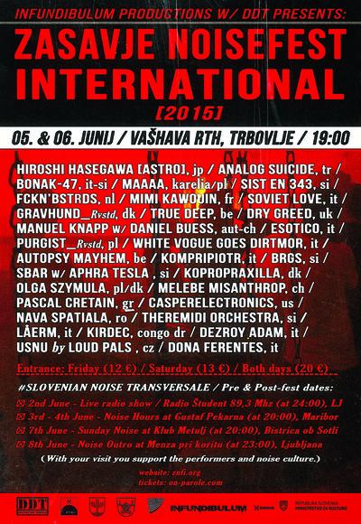 Zasavje Noisefest International 2015 poster