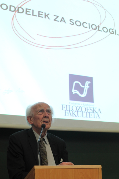 Zygmunt Bauman - Department of Sociology - portrait - Photo Borut Krajnc