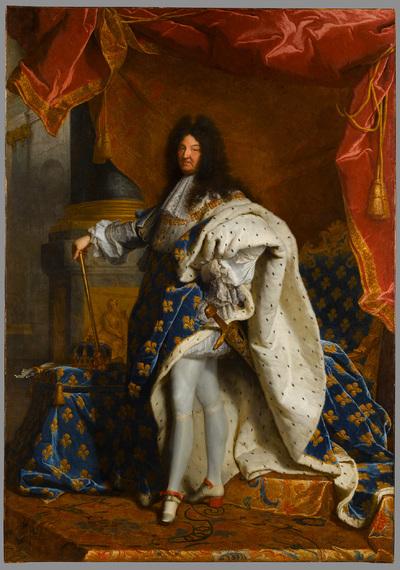Louis XIV, roi de France, portrait en pied en costume royal