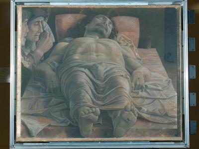 Cristo morto nel sepolcro e tre dolenti