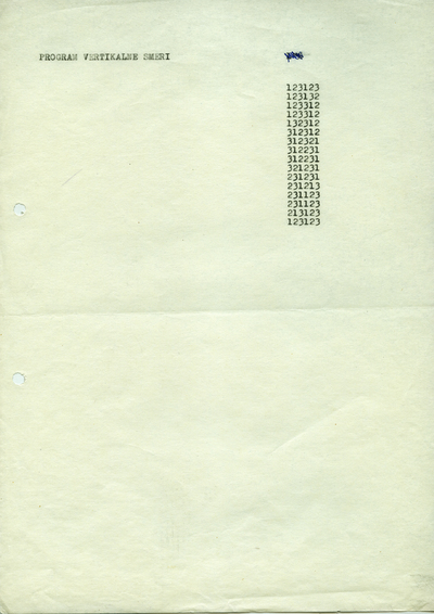 Programirana grafika - program vertikalne smeri