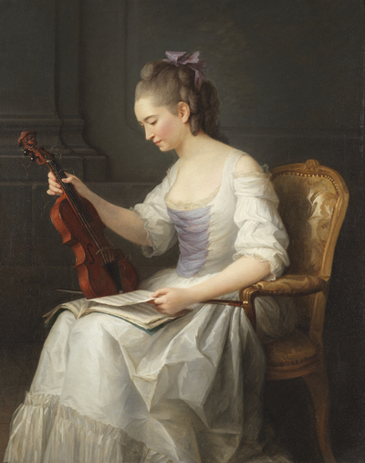 Porträtt av en violonist