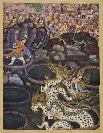 Umar besiegt einen Drachen