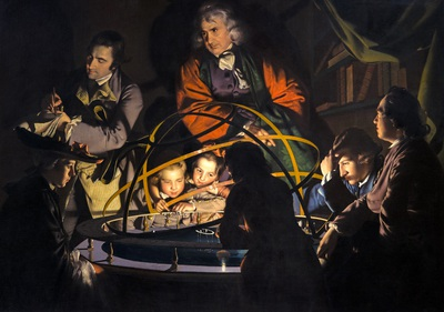 A Philosopher Giving that Lecture on the Orrery, in which a Lamp is put in the Place of the Sun