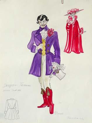 Kostümentwürfe für Dragotin (mit Ilona)