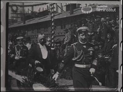 Kaiser Wilhelm II. beim Besuche der Vulkan-Werft in Stettin am 4. Mai 1897