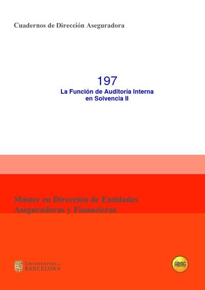 La Función de auditoría interna en Solvencia II