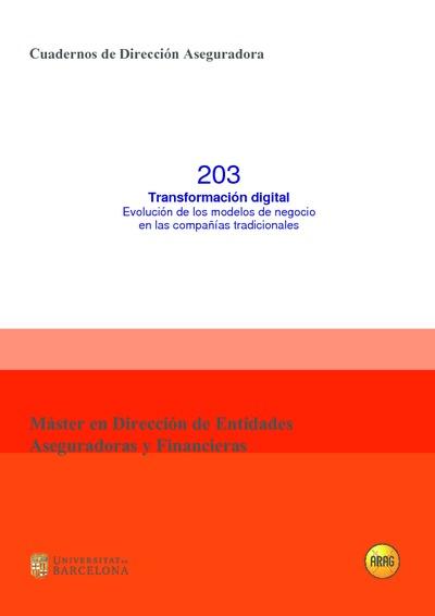 Transformación digital : evolución de los modelos de negocio en las compañías tradicionales