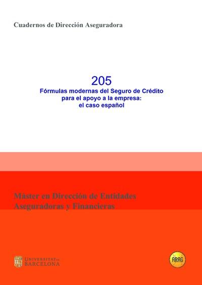 Fórmulas modernas del Seguro de crédito para el apoyo a la empresa : el caso español