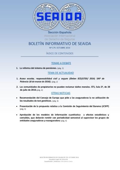 Boletín Informativo de SEAIDA ; nº 174, octubre 2016