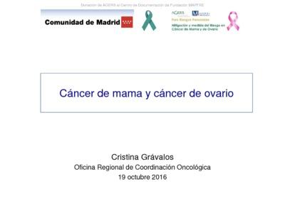 Foro Riesgos Personales : Mitigación y medida del Riesgo en Cáncer de Mama y de Ovario