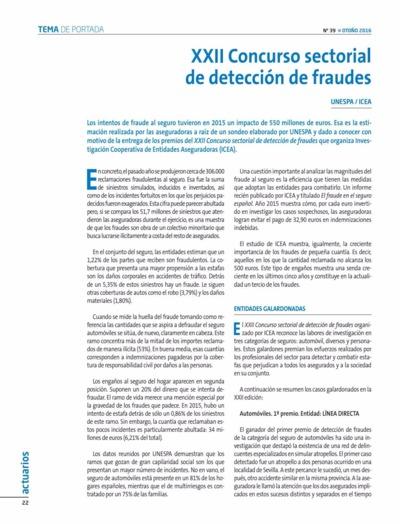 XXII Concurso sectorial de detección de fraudes