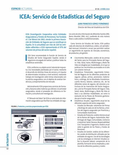 ICEA : servicio de estadísticas del seguro