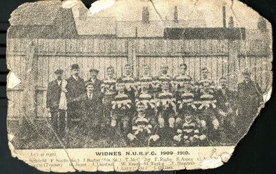 Widnes Northern Union Rugby Football Club 1909-10.