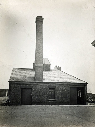 The boiler house at the side of the Fever Hospital at the junction of Moorfield Road and Crow Wood Lane. The hospital was opened in 1878.